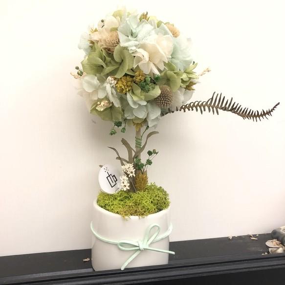 蜜糖球 不凋繡球桌花(大) 花藝・盆栽・花圈・花環 MiniPlan xFLORA 的作品|Creemaー來自日本的手作・設計購物網站
