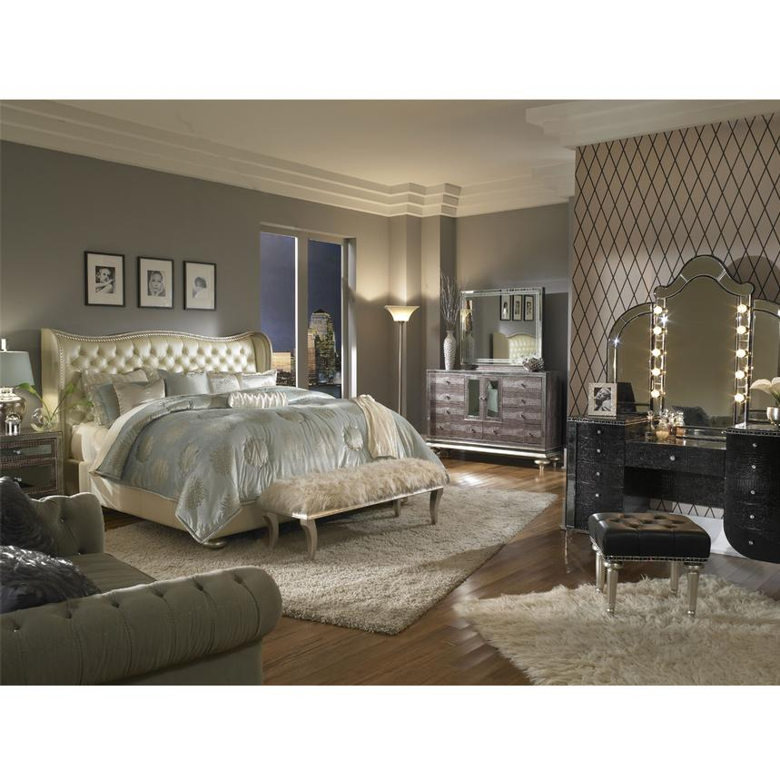 hollywood swank pearl queen platform bed alternate image 2 of 7 images