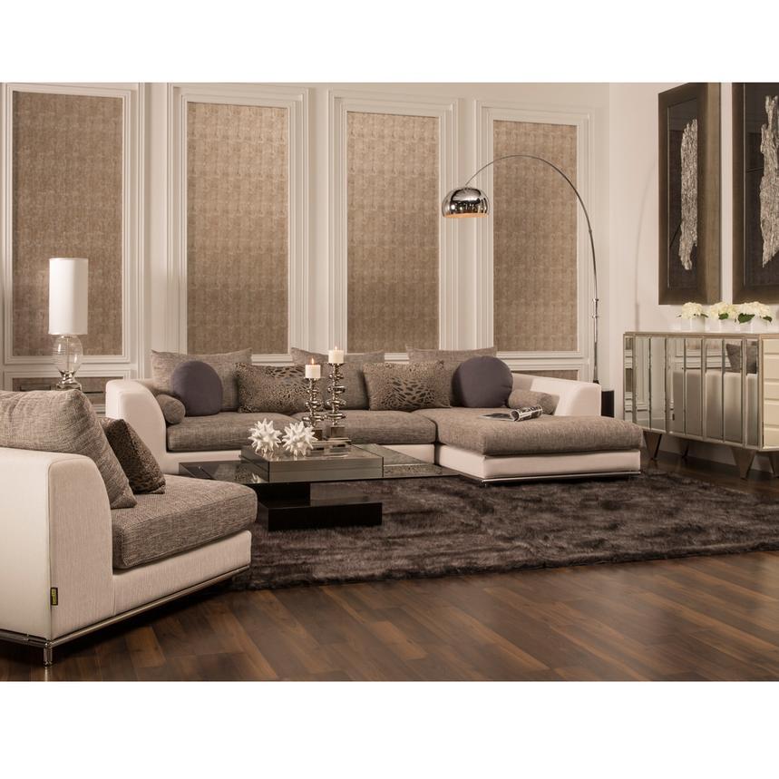 Marco Gray Chaise Sofa