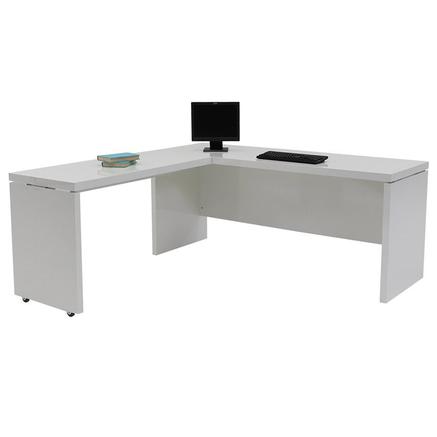 Sedona White LShaped Desk Made in Italy  El Dorado Furniture