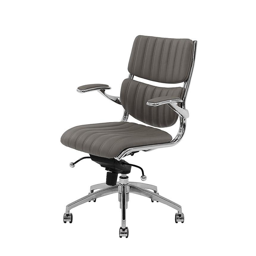 Bell Gray Low Back Desk Chair El Dorado Furniture