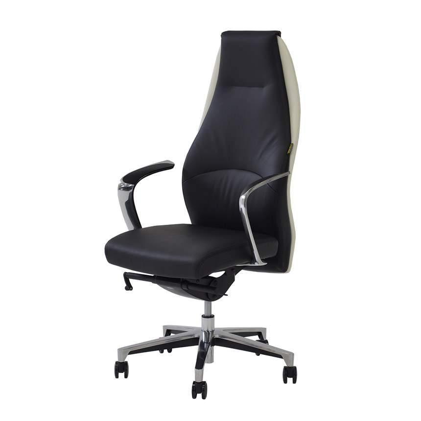 black leather desk chairs colorful accent chair prector white el dorado furniture main image 1 of 6 images