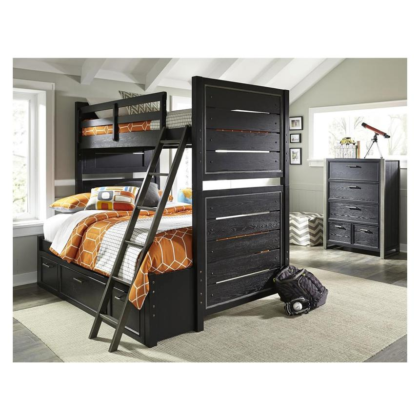 Home » this office furniture makes it feel like you're working from bed dutch desig. Graphite Twin Over Full Bunk Bed | El Dorado Furniture
