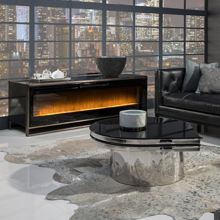 Metro Lights Faux Fireplace  El Dorado Furniture
