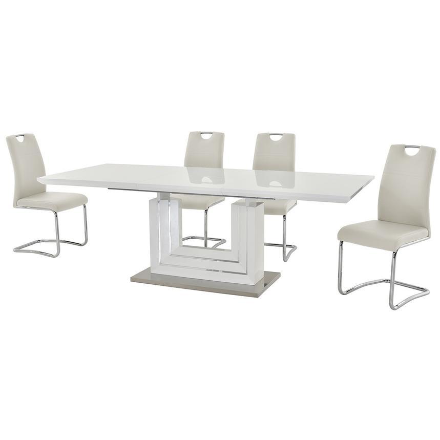 Lila White 5 Piece Casual Dining Set El Dorado Furniture