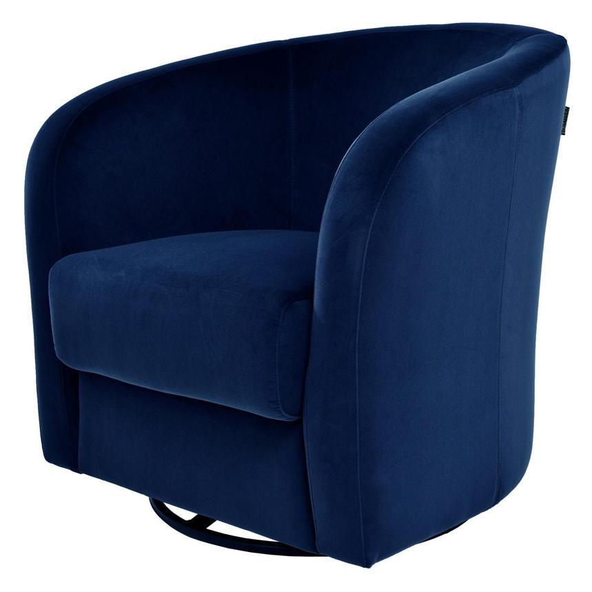Delia Blue Swivel Accent Chair El Dorado Furniture