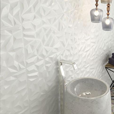 carrelage sol et mural salle de bains a
