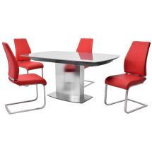 Mavis Maday Red 5-piece Formal Dining Set El Dorado