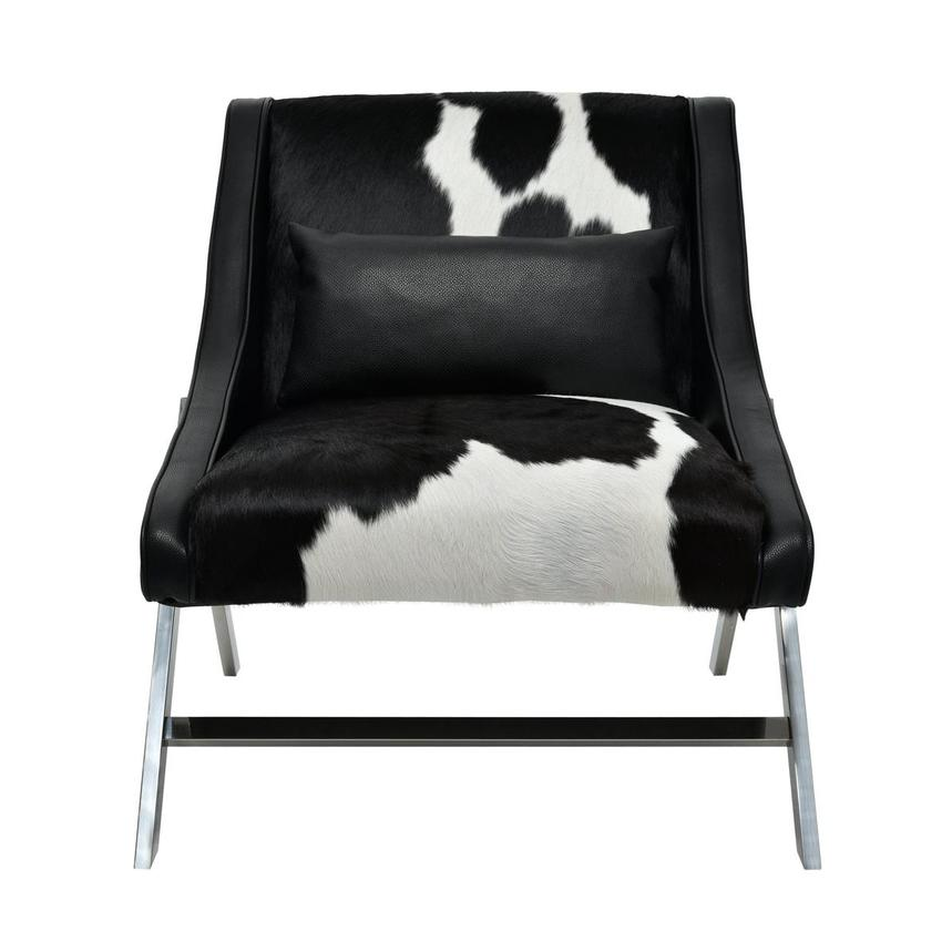 Krava Black Leather Accent Chair  El Dorado Furniture