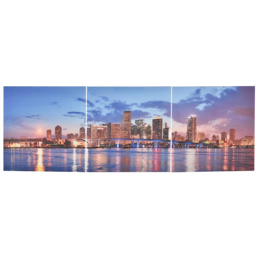 Miami Skyline Iii Set Of Acrylic Wall Art El Dorado Furniture