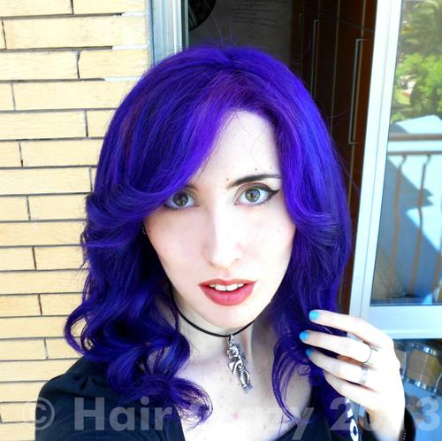 Blue And Purple Hair Dye Mixed