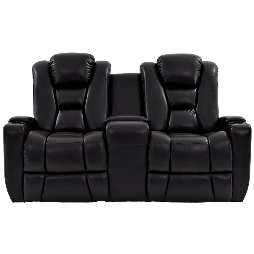 acrylic side chair with cushion plus size outdoor rocking chairs transformer ii black power motion sofa w/console | el dorado furniture