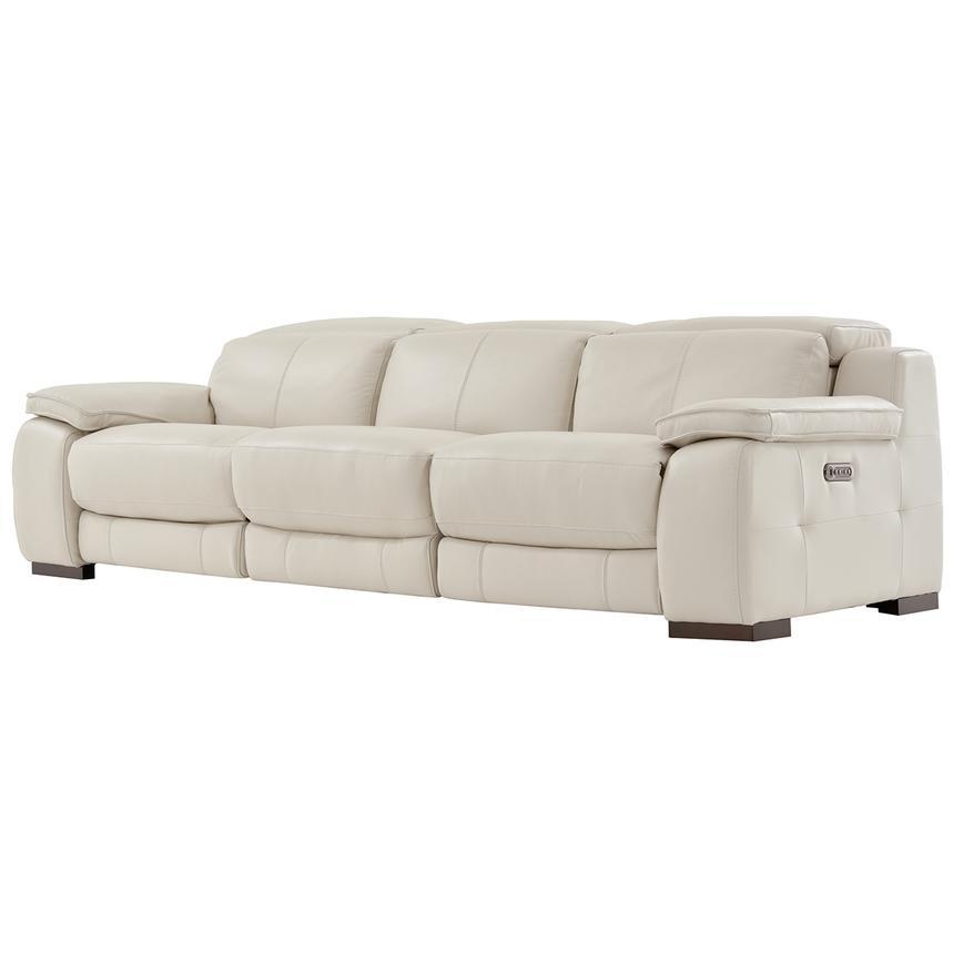 gian marco cream oversized leather sofa