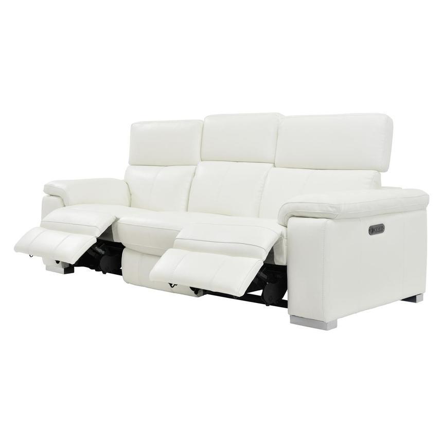 Charlie White Power Motion Leather Sofa El Dorado Furniture