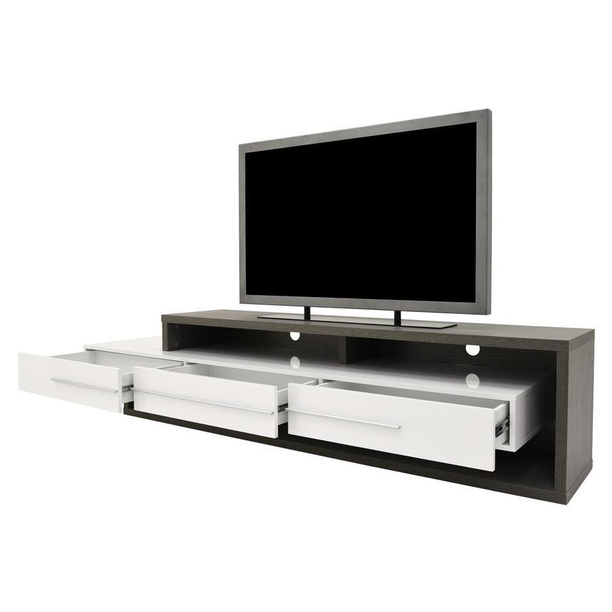 Avanti GrayWhite TV Stand El Dorado Furniture