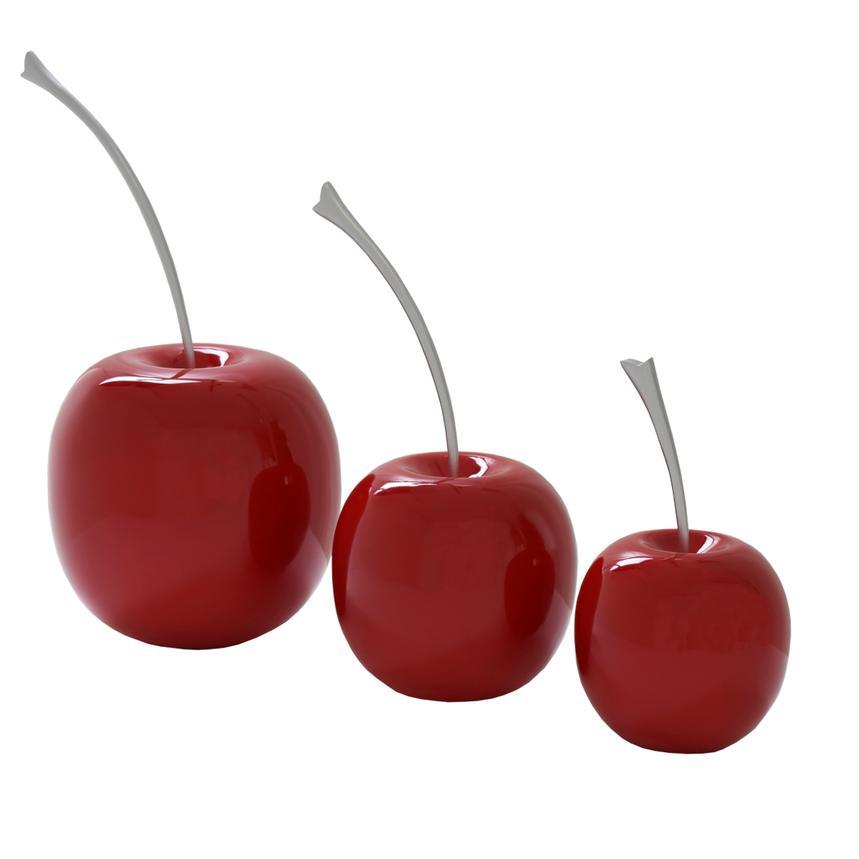Cherries Red Table Decor Set of 3  El Dorado Furniture