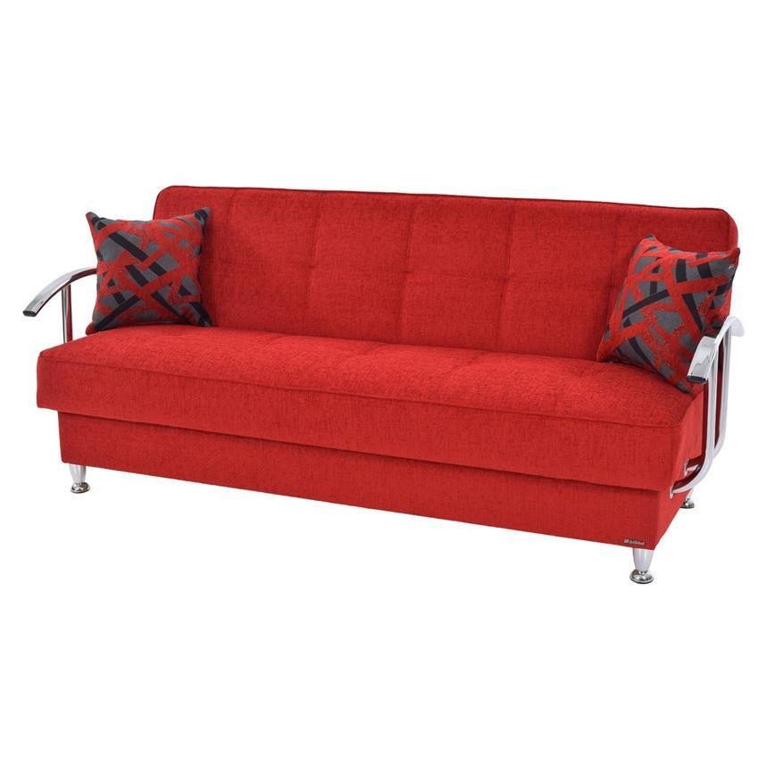 Betsy Red Futon WStorage El Dorado Furniture