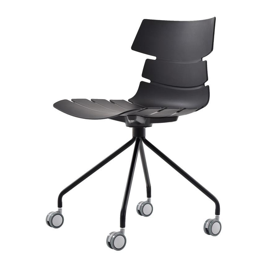 dorado office chair boon pedestal high dot black desk el furniture alternate image 2 of 6 images