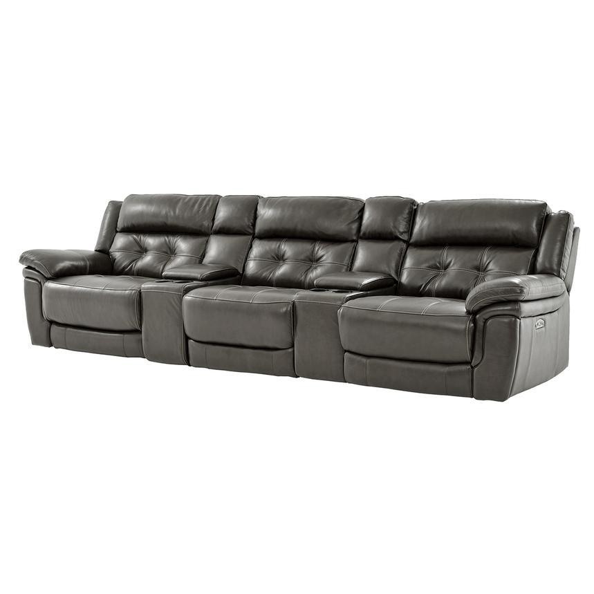 Stallion Gray Home Theater Leather Seating  El Dorado