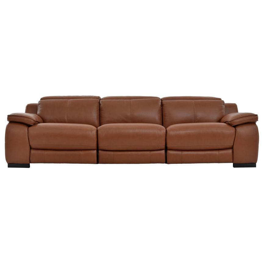 gian marco tan oversized leather sofa