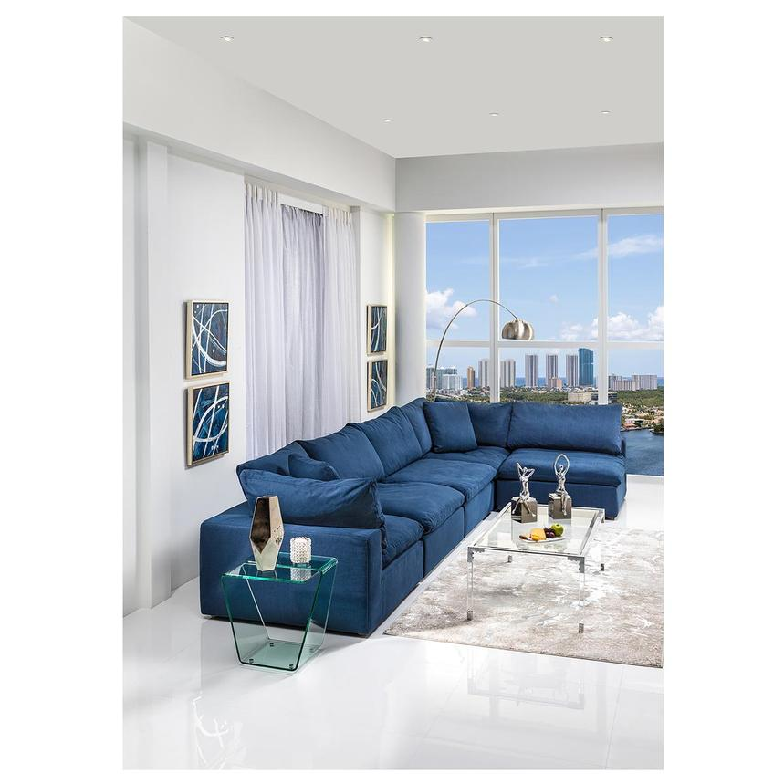 nube ii blue sectional sofa el dorado furniture