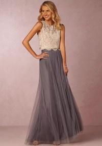 BHLDN (Bridesmaids) Cleo Top-Light Grey Bridesmaid Dress ...