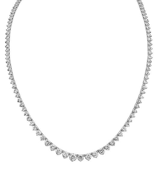 Shane Co. Round Diamond Eternity Necklace Wedding Jewelry