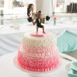 Pink Ombre Round Wedding Cake