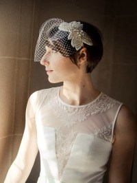 Wedding Hairstyles For Short Hair With Birdcage Veil ...