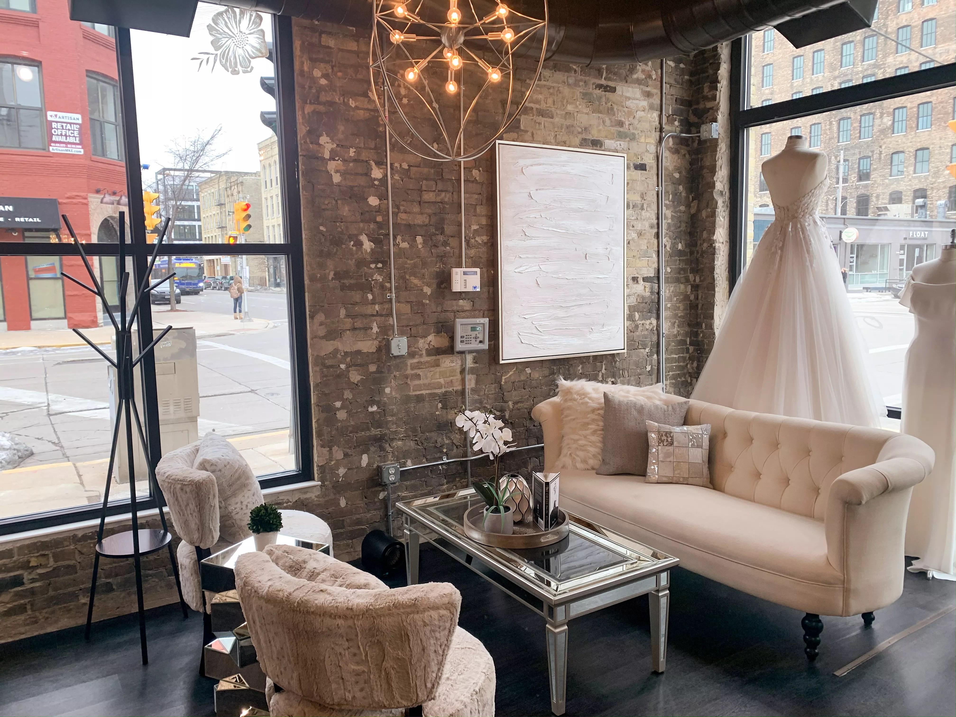 white dress off the rack bridal