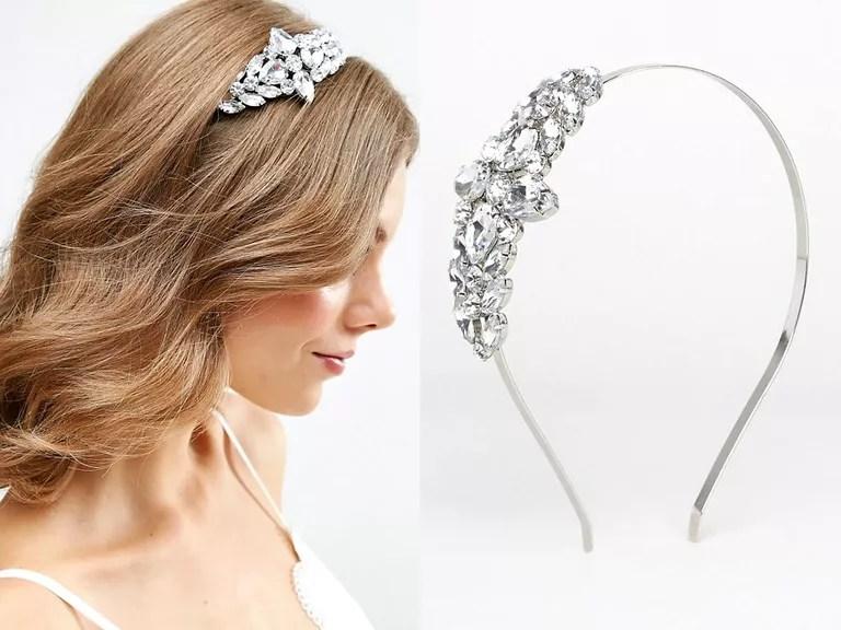 asos rhinestone wedding hair accessories