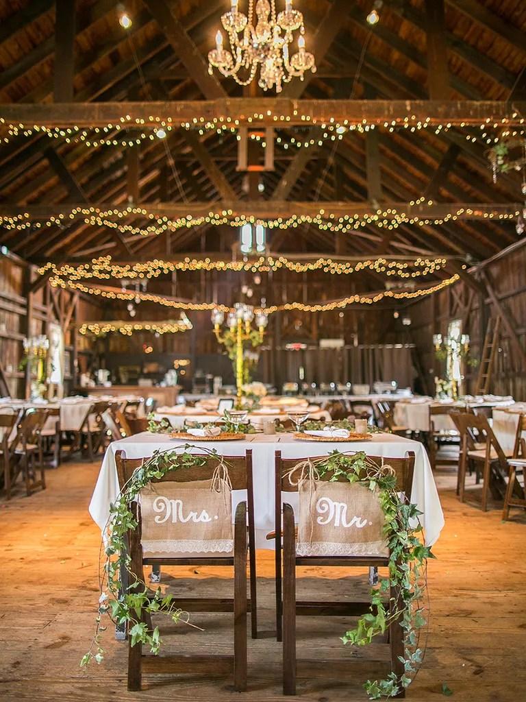 Fall Wedding Hall Decorations