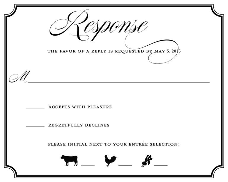 Rsvp wedding example