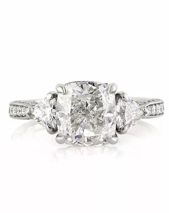 Mark Broumand 4.10ct Cushion Cut Diamond Engagement