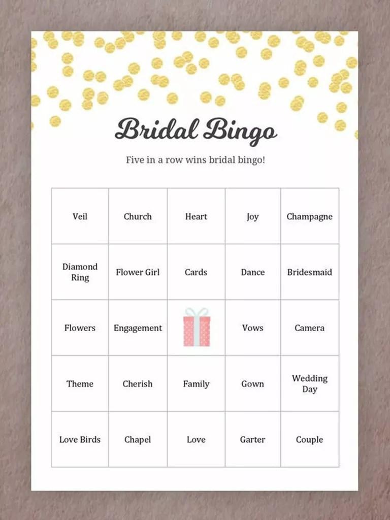 medium resolution of printable wedding games for your reception bingo