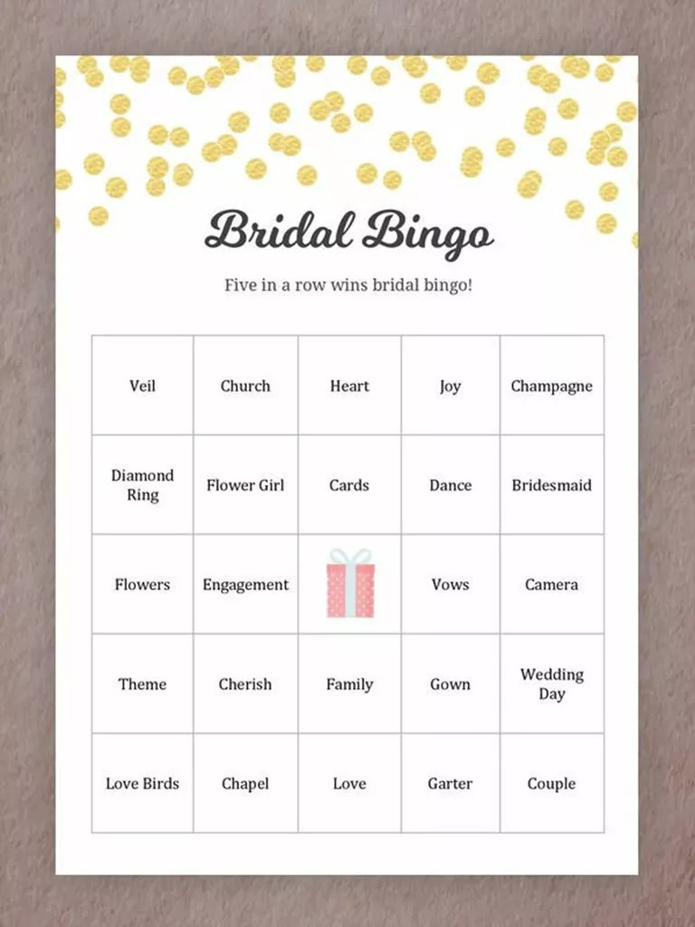 hight resolution of printable wedding games for your reception bingo