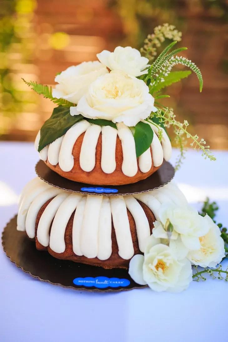 Bundt Cake Ivory Rose Accents