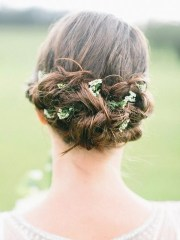 romantic updo ideas bridesmaids