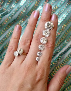 Diamonds of different carat sizes also all you need to know about diamond size rh theknot