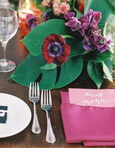 Reception table with labeled menue also wedding seating etiquette rh theknot