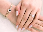 wedding nail design bridal