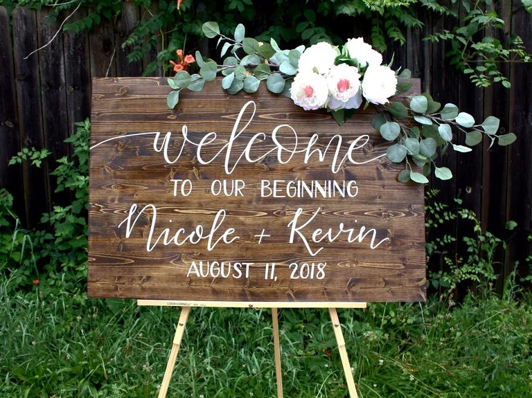 19 unique wedding signs