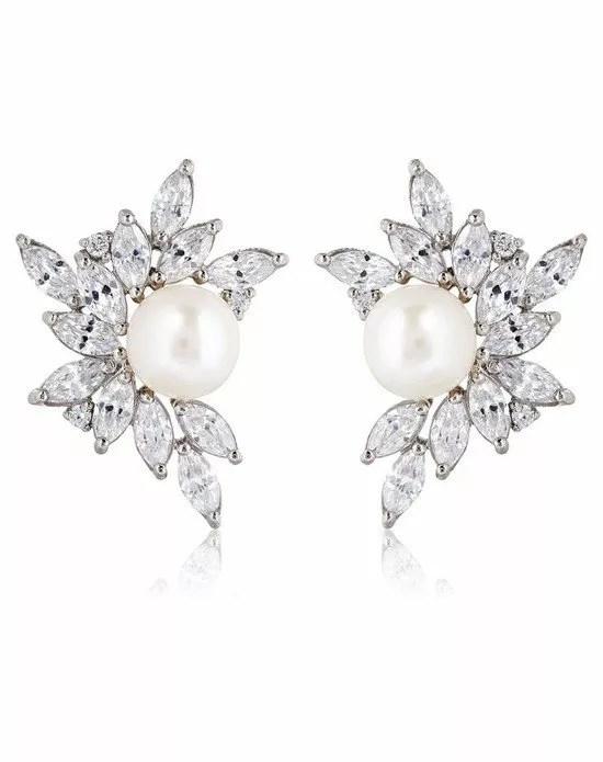 Thomas Laine Liz Garland Pearl Cluster Earrings Wedding