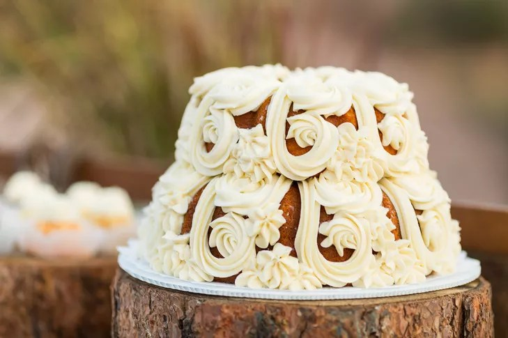 Two Tier Bundt Cake With Buttercream Frosting