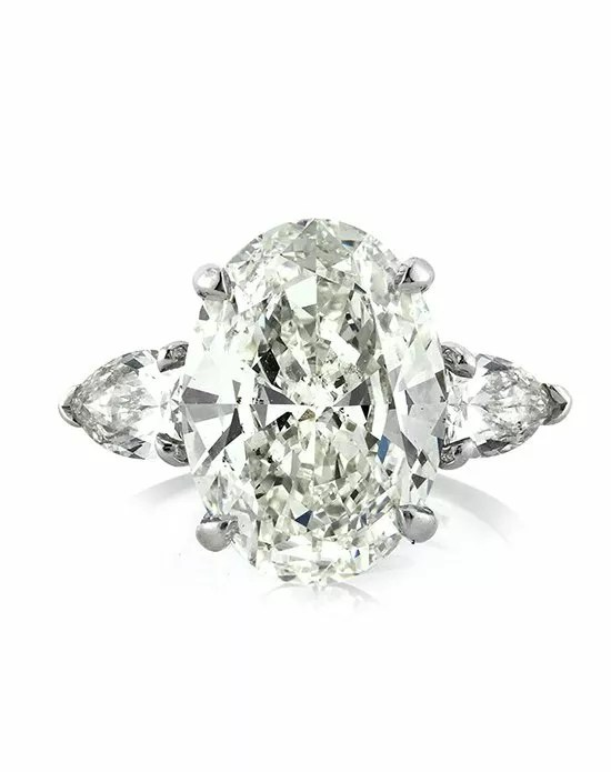 Mark Broumand 5.83ct Oval Cut Diamond Three-Stone