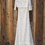 Two Piece Full Length Lace Wedding Gown