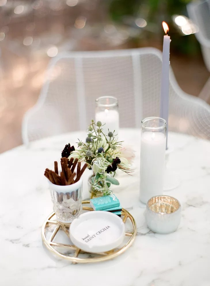 eclectic modern cocktail table centerpiece