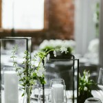 Modern Glass Candle Holder Centerpieces