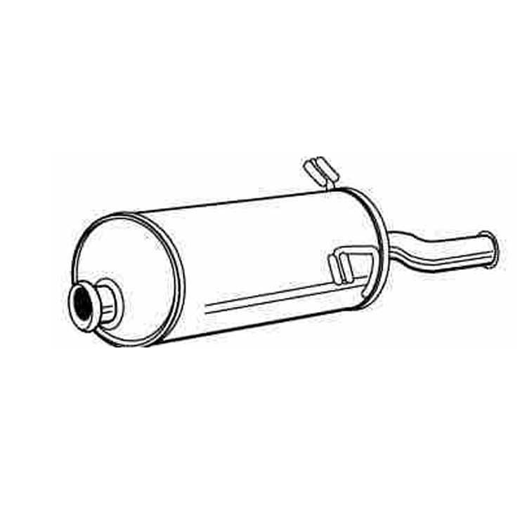Endschalldämpfer für Citroen Xsara Picasso 1.8 16V