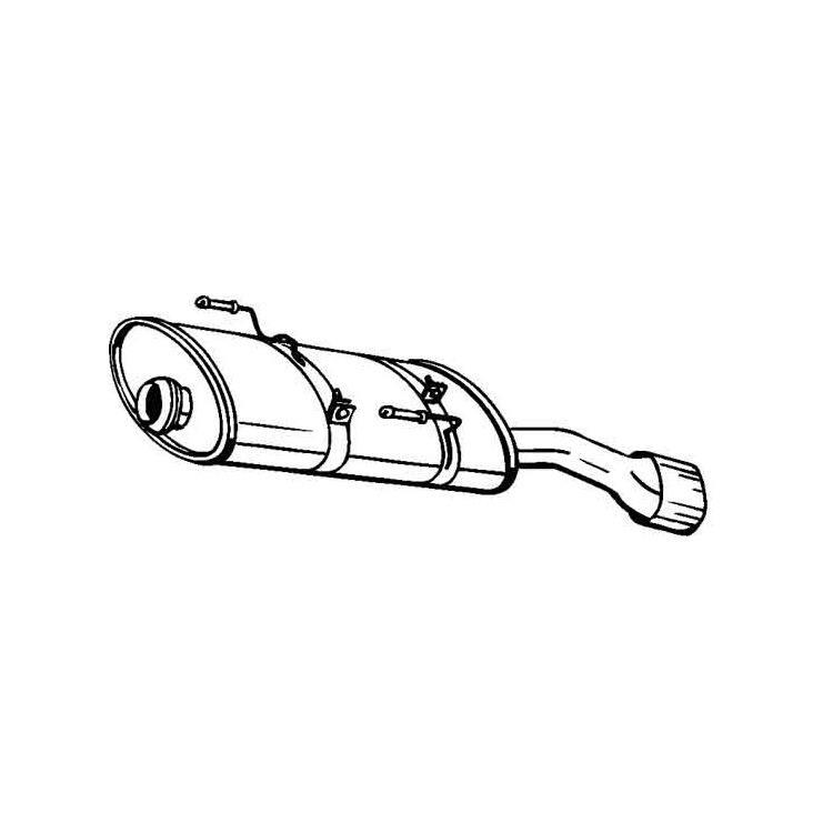 Endschalldämpfer PEUGEOT 206 2A/C 2,0 HDI Auspuff NEU